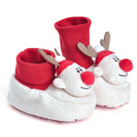 Wholesale boys home slippers - Children's Winter Shoes Boy Girl Slippers Booties Newborn Infant Baby Crib Shoes Soft Sole Anti-slip Sneakers Home Slippers