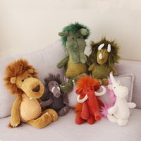 orman hayvanları peluş toptan satış-Peluş oyuncaklar Hayvan Peluş Oyuncaklar Orman Serisi Bebek Zürafa Sevimli Bebek Çocuk Doğum Günü Hediyesi Göndermek