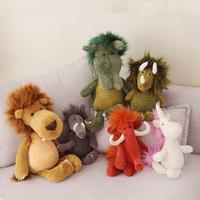 waldtiere plüsch großhandel-Plüschtiere Tier Plüschtiere Wald Serie Puppe Giraffe süße Puppen senden Kinder Geburtstagsgeschenk