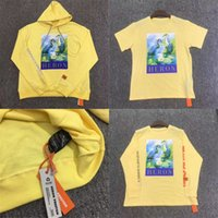 mode gelb t-shirts männer lang großhandel-Reiher Preston Long Sleeves T-Shirt Männer Frauen 1: 1 CTNNB Stickerei Reiher Preston T-Shirt Gelb Mode C Kran HiP Hop Top Hoodies