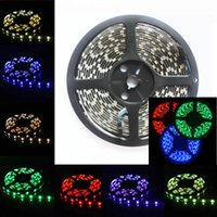 Wholesale double sided strip lights resale online - led strip m SMD RGB V Waterproof Non waterproof Led flexible strips light Leds M double side good quality