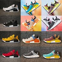 Wholesale Green Lighting Products - GOOD product Pharrell x HuTrail Equality NMD HUMAN RACE AC7362 NERD black Colette men women sports sneaker Holi Blank Canvas running Shoes