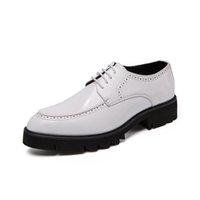 plataforma de zapatos de tacón italiano al por mayor-plataforma de diseño zapatos de cuero de los hombres formales elegante italiano de tacón alto vestido de marca calzado masculino brogue oxford zapatos de los hombres