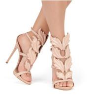 gold ultra high heels sandalen großhandel-großhändler Die neuen Stars in Europa lieben die luxuriösen Metallflügel der Frauen