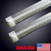 Wholesale 4ft led tubes - V-Shaped 2ft 3ft 4ft 5ft 6ft 8ft Cooler Door Led Tubes T8 Integrated Led Tubes Double Sides Led Lights fixture Stock In USA