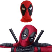 Wholesale men for superhero cosplay for sale - high quality Deadpool Masks Head Cover Hood Superhero Cosplay Masks Party Headwear Bow Cap Full Mask For Men Kids T5I118