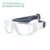 Wholesale Prescription Blue - Men Full Rim Sports Basketball Spectacles Square Safety Goggles For Myopia Prescription Lenses