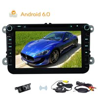 Wholesale wifi wireless transmitter - Wireless Backup Camera Android 6.0 Stereo System Quad-core GPS Navigation 2din Car DVD Player Canbus Steering wheel control Wifi Dongle