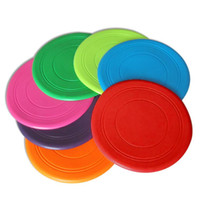 Wholesale fly seven - Pets throw toys Frisbee flying saucer tpr Dogs play circles Frisbee float resistant training bite supplies There are seven colors available