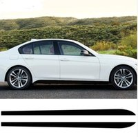 bmw etiqueta de rendimiento al por mayor-2 unids Nuevo Estilo M Performance Side Skirt Sill Racing Stripe Vinyl Decal Stickers para BMW 3 Series E90 E91 E92 E93 318i 320i