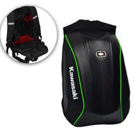 kask motosikletleri yarışı toptan satış-Sert kabuk Sırt Çantası motosiklet kask sırt çantaları Karbon Fiber sırt çantası Motocross Yarışı Sürme çanta motosiklet açık spor çantası
