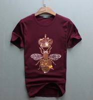 marca dd al por mayor-nuevos hombres del diseño de lujo del diamante de manga corta T-shirt Camisetas divertidas de los hombres del algodón tops y camisetas de marca dd