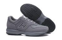 ingrosso scarpe casual online-2019 New Sale Interactive shoes uomo vendita Italia Online Men Leather Scarpette Good Scarpes New come Grey altezza maschile Casual Trainers epacket