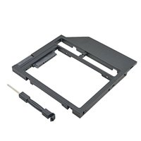 Wholesale dvd rom caddy online - New Universal Plastic HDD Caddy mm mm SATA quot SSD Case Laptop CD DVD ROM Optibay