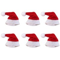 personalisierte weihnachtsschmuck großhandel großhandel-Mini Weihnachtsmütze Weihnachtsmann Mütze Weihnachts Lollipop Hut Mini Hochzeitsgeschenk Kreative Mützen Weihnachtsbaum Ornament Dekor