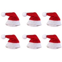 dekor için yılbaşı ağacı süsleri toptan satış-Mini Noel Şapka Noel Baba Şapka Noel Lolipop Şapka Mini Düğün Hediye Yaratıcı Kapaklar Noel Ağacı Süs Dekor