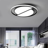 Wholesale led ceiling light 24v - Dimmable Led Ceiling Lamp with Remote Control Modern Black Ceiling Light Round Living Room Kitchen Light Fixtures Indoor Lighting Ceiling