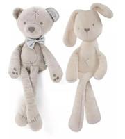 Wholesale Wholesale Plush Bunnies - Kids Easter Rabbit Plush Toys White and Beige Soft Bunny Sleeping stuffed Doll Toddler Toys Kids Gift B11