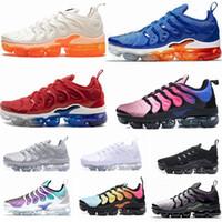 eua sapatos novos venda por atacado-2019 Nova TN Plus Jogo Royal Orange EUA Tangerina hortelã Uva Volt Hyper Violeta formadores Sports Sneaker Mens mulheres Designer de tênis