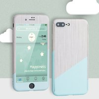 Wholesale 5s back case full online – custom 360 Degree Full Body Plastic Protective Marble Stone Back Case With Tempered Glass For iPhone X S S SE Plus
