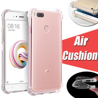 Wholesale chinese cushions - Air Cushion Shockproof Ultra Transparent Clear Crystal Soft TPU Cover Case For Xiaomi Mi8 SE Mi6 Plus Mi 8 6 Note 3 Mix Max 2 Redmi 5A 5 Pro
