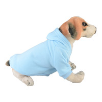 welpen pullover hut großhandel-2018 neue Ankunft Puppy Hoodie Kleidung Herbst und Winter Frühling Hund Reißverschluss Pullover Pet Lovely mit Hut Sweatshirt Kostüm