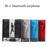 Wholesale Earhook Mic - BT-1 BT-3 BT-10 Tour Earphone Bluetooth Sport Earhook Earbuds Stereo Over-Ear Wireless inear headset handfree portable music phone with mic
