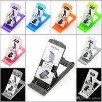apfel iphone steht großhandel-New Apple iPad iPhone 5/6 / 7 Universal-Klappständer Desktop-Ständer Kunststoff-Handy-Ständer