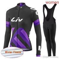 cycling jerseys sets Australia - LIV team Cycling Winter Thermal Fleece jersey (bib) pants sets Breathable high quality Mountain Bike 3D gel pad women Ropa Ciclismo C2116