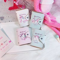 Wholesale hands bag cartoons resale online - New Pattern Multifunctional Document Bag Printed Unicorn Certificate Package Cartoon Practical Hold In The Hand la X