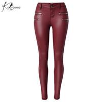 33cd6d60ac Vendita all'ingrosso di sconti Pantaloni In Pelle Rossa in messa da ...