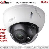 dahua ip dome kamera großhandel-Ursprüngliche Dahua 6MP IP metall körper IP Kamera IPC-HDBW4631R-AS dome netzwerk Vandalensichere IP67 CCTV kamera IPC-HDBW4631R-AS