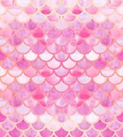 летние фоны оптовых-Оптовая фон для фотостудии розовая рыба весы яркий летний узор золотой фон фотоколл baby shower Xt-6960