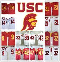 Wholesale Bush Men - USC Trojans College 14 DARNOLD Smith Schuster 9 Jackson 21 33 Marcus Allen 32 Simpson 47 Matthews 42 Lott 43 Polamalu 5 Bush jersey jerseys