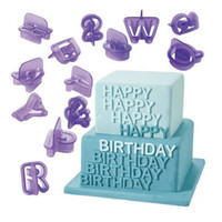 Wholesale Silicone Alphabet Letter - Alphabet Letter Number Biscuit Mold Fondant Cakes Decorative Mould Kitchen Baking Tool Hot Sale 3 5ky C R