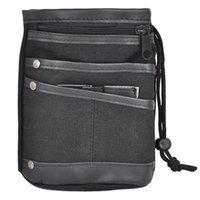 multi pocket fanny pack NZ - Casual Canvas Waist Bag Multi Pocket Fanny Pack Purse Wallets - Black