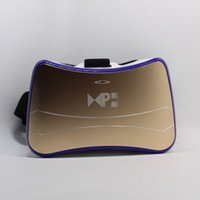 coussinets pour lunettes achat en gros de-Casque VR réalité virtuelle lunettes 3D Android 4.4 1G / 8G Quad Core Wifi Bluetooth USB TF carte construire dans le pavé tactile