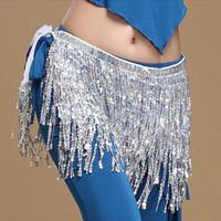 95ef0f5bbdf Belly Dance Dancer Costume Sequins Tassels Fringes Hip Scarf Belt Waist  Skirt