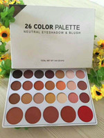 Wholesale neutral eyeshadow palettes resale online - New Arrival Neutral Eyeshadow Blush Colors Palette Matte Shadows Cosmetics DHL Free