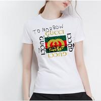 ingrosso camicia espresso xl-Estate del 2018 nuovo alla maglietta all'ingrosso di marca della signora casuale dei graffiti della maglietta, lettera stampata T-shirt stampata, maglietta sveglia del cotone