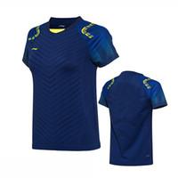 yeni kıyafetler badminton li ning toptan satış-Best Deal Li Ning badminton Gömlek giysi, YENI erkek kadın T-Shirt, polyester hızlı kuru tenis tshirt, astar Badminton T-Shirt, Nefes