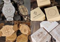 relojes sin logos al por mayor-Tarifa de personalización sin RELOJ Personalidad Logotipo de diseño creativo Grabado tallado Personalizar Reloj de madera de bambú Ningún producto