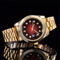 Wholesale Retail relogio masculino mm men watches Luxury wrist fashion Folding Clasp Master Male Quartz Male Watches