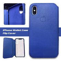 Wholesale Sleep Cover Flip Iphone - For iPhone X Wallet Folio PU Case Flip Cover Auto Stand By and Sleep Mode Retail Package