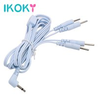 Wholesale Electro Anal Stimulation - IKOKY Sex Toys For Penis Ring Anal Plug Electro Stimulation 2 4 Pin Electric Shock Wire Therapy Massager Accessories