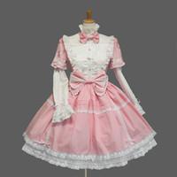черная девичья одежда оптовых-2018 New Japanese Anime Snow White Cosplay Halloween Costumes For Woman Blue Black Pink Cafe Sex Maid Clothes
