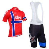 Wholesale sky cycling jersey xl for sale - Brand New Models Team SKY Cycling Clothing For Men Short Sleeve Cycling Jersey Sets Cycling Bib Shorts Maillot Ciclismo Bicicleta Wear