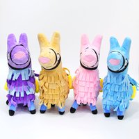 Wholesale stuffed animals - 4 Colors Fortnite Troll Stash Llama Figure Doll Soft Stuffed Animals Toys Fortnite Stash Llama Plush Toy cartoon Stuffed doll