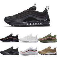 Wholesale discount sports shoes online - Best Quality OG Tripel White Metallic Gold Silver Bullet Discount WHITE M Premium Fashion Men Women Running Shoes Sport Sneakers