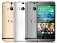 células desbloqueadas gsm venda por atacado-Original htc one m8 desbloqueado gsm / wcdma / lte quad-core de memória celular 2gb htc m8 5.0 polegadas 3 câmeras remodelado telefone